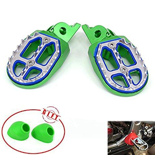 JFG RACING CNC MX Foot Pegs Pedal Rests Footpeg Footrest For Kawasaki KX250F 2006-2016 KX450F 2007-2016 KLX450R 2008-2013