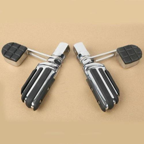 XFMT Chrome Foot Peg Footrest Heel Stirrup For Honda VTX1800 2002-2011 VTX1300 2003-2009 VTX