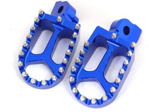 11Z BLUE CNC RACING FOOTPEGS KAWASAKI KX250F KX450F YAMAHA RMZ250 FP12