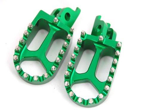11Z GREEN CNC RACING FOOTPEGS KAWASAKI KX250F KX450F YAMAHA RMZ250 FP12