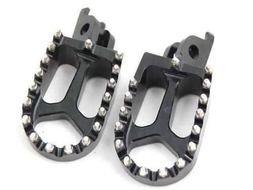 BLACK CNC RACING FOOTPEGS KAWASAKI KX250F KX450F YAMAHA RMZ250 FP12