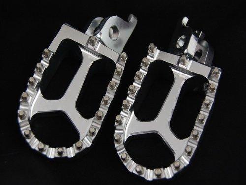 SILVER CNC RACING FOOTPEGS KAWASAKI KX250F KX450F YAMAHA RMZ250 FP12