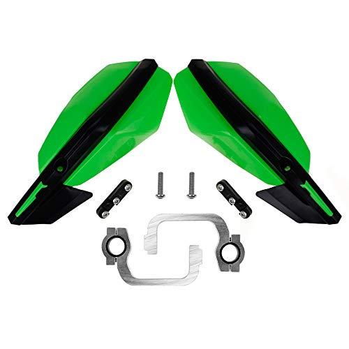78 Inches 22mm Motorcycle Universal Handguards Hand Guard for Kawasaki KX KLX KXF KDX KX65 85 125 KX250 KX250F KX450F Enduro Suzuki ATV KTM 125 200 Duke MX Dirt off Motocross Road Bike Honda Green