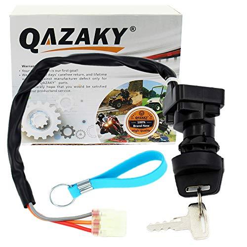QAZAKY Replacement for Ignition Key Switch Suzuki ATV LTF250 LT-F250 LTZ250 LT-Z250 LTZ400 LT-Z400 LTZ400Z LT-Z400Z LTA500F LT-A500F LTF500F Ozark Quadsport Quadmaster Quadrunner 250 Z250 Z400 500