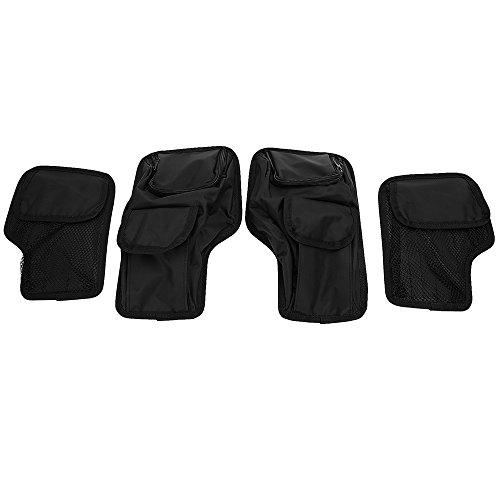 ECLEAR Saddlemen Front Rear Saddle bag Lid Organizer Set For Harley Touring Electra Street Road Glide 1996-2013 Hard Bags