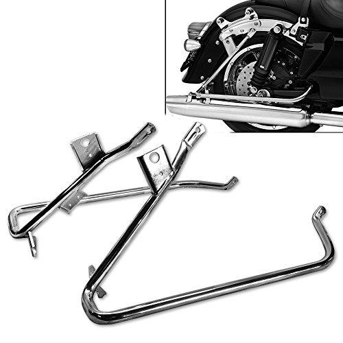 TJMOTO Chrome Saddlebag Support Bracket for 2009-2013 Harley-Davidson Touring Road King Electra Glide