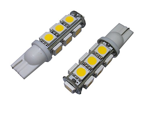 GRV T10 921 194 13-5050 SMD Wedge LED Bulb lamp Super Bright Warm White DC 12V Pack of 10