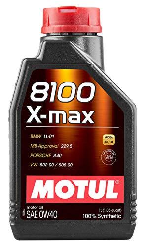 Motul 104531 8100 0W40 X-Max Synthetic Engine Oil-Porsche A40 1-Liter 3381 Fluid_Ounces