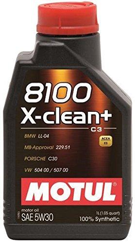 Motul 1L Synthetic Engine Oil 8100 5W30 X-Clean - Ll04- Mb 22951-50400-50700106376 1