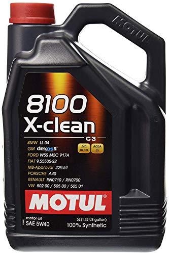 Motul 2051 8100 X-Clean 5W-40 Synthetic Engine Oil 5 Liter