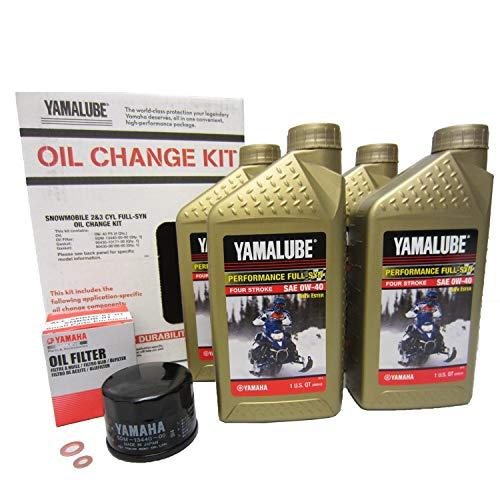 Yamaha Full Synthetic Engine Oil Change Filter Kit Phazer Nytro Vector Venture LUB-SMBCG-KT-05