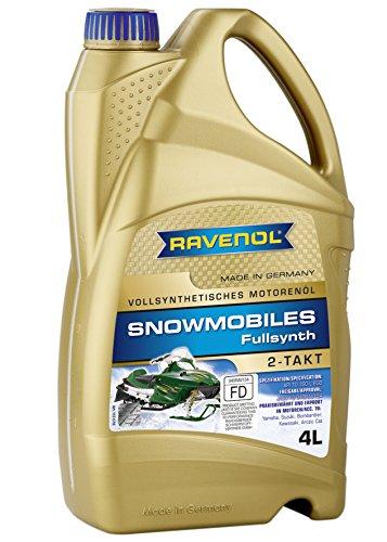 RAVENOL J1V1301 2-Stroke Snowmobile Oil - Full Synthetic JASO FD Spec Oil 4 Liter