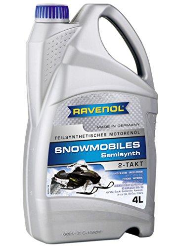 RAVENOL J1V1302-004 2-Stroke Snowmobile Oil - Semi Synthetic JASO FC API TC Spec Oil 4 Liter