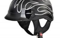Deep-Black-silver-Motorcycle-Dot-Half-Helmet-Cruiser-Harley-small1.jpg