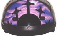 Dot-Vented-Pink-purple-Cross-Christian-Motorcycle-Half-Helmet-size-L-Lg-Large-23.jpg