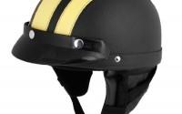 Yellow-Black-Faux-Leather-Covered-Motorcycle-Skull-Cap-Half-Helmet-W-Scoop-Visor16.jpg
