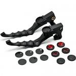 Krator-NEW-Black-Hand-Levers-Skull-Cross-Grooved-Emblems-For-Harley-Davidson-1200-Custom-XL1200C-2011-36.jpg
