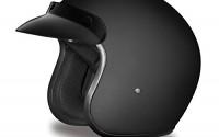DOT-Flat-Black-Three-Quarter-3-4-Open-Face-Motorcycle-Helmet-Size-M-MD-Medium-30.jpg