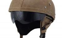 Woljay-Leather-Motorcycle-Goggles-Vintage-Half-Helmets-Motorcycle-Biker-Cruiser-Scooter-Touring-Helmet-Brown-with-Drop-Down-Sun-Lens-0.jpg