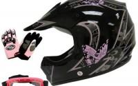 TMS-Youth-Kids-Pink-Butterfly-Dirtbike-Atv-Motocross-Helmet-Mx-W-goggles-gloves-Medium-5.jpg