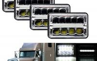 4X6-LED-Headlight-for-Trucks-Rectangular-Hi-Lo-Beam-DRL-6000K-Bright-White-45W-Conversion-for-Freightliner-112-1991-2004-120-1988-2007-Replace-H4651-H4652-H4656-H4666-4PACK-63.jpg